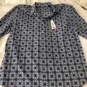 Large NWT Perry Ellis long sleeve button up.